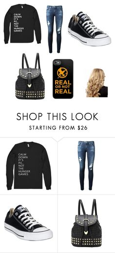 """Untitled #25"" by allisonshaylyn ❤ liked on Polyvore featuring AG Adriano Goldschmied and Converse"