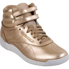 3d9c63a7051 Reebok Freestyle Hi Metallic Women s High-Top Sneaker ( 85) ❤ liked on  Polyvore