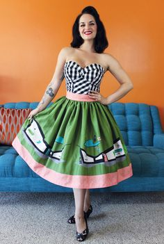 Black & White Gingham Pinup Bustier