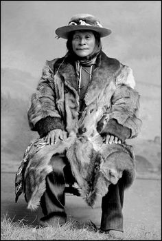 White Grass (aka Shorty White Grass), Blackfoot, by Charles Milton Bell, 1891. / Born in 1827, White Grass was a renowned warrior, medicine man, band chief, and tribal judge. Because of his small stature he was generally called 'Shorty'.