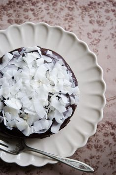 Coconut & Chocolate Steam Cake