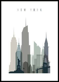New York Skyline Poster in der Gruppe Poster / Karten und Städte bei Desenio AB. New York Skyline Poster in the Poster / Maps and Cities group at Desenio AB Manhattan Skyline, New York City Skyline, City Skyline Art, Skyline Design, Lower Manhattan, Paris Skyline, Gold Poster, Poster S, Poster Prints