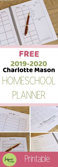 Here is a Free Printable Charlotte Mason Homeschool Planner! Organize your days … Here is a Free Printable Charlotte Mason Homeschool Planner! Organize your days using this simple, beautiful planner filled with inspirational CM quotes. Curriculum Planner, Preschool Curriculum, Preschool Planner, Silent E, Common Core Standards, Letters Ideas, Homeschool Books, Online Homeschooling, Infant Activities