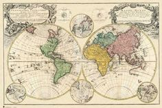 yup, old map of world - looks like someone bite off a piece of it :)