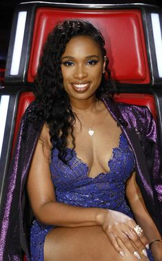 Jennifer Hudson from The Big Picture: Today's Hot Photos The gorgeous host's confidence makes the oversized The Voice chair look small. Rihanna, Beyonce, Real Black Magic, Jennifer Hudson, Black Celebrities, Big Picture, Hottest Photos, Musical, Bollywood
