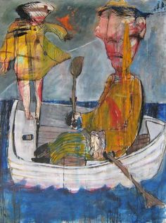 Ilya Volykhine, Out To Sea, oil & mixed media on 300gsm Hahnemuhle Paper, Size: 59.1 H x 47.2 W x 0.1 in on ArtStack #ilya-volykhine #art