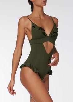 Beachwear Calzedonia summer 2018 model Star price 49 euros - new - Blumen Beachwear For Women, Women Swimsuits, Monokini Swimsuits, Swimwear, Tankini, Peplum Swimsuit, Geometric Fashion, Donia, Bikini Outfits