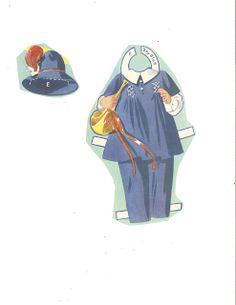 Dionne Quintuplets Paper Dolls (15 of 26): Emilie, #3488 Merrill 1940 | Miss Missy Paper Dolls