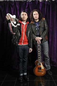 Frank Iero and Ray Toro My Chemical Romance, I Love Mcr, Guitar Magazine, Ray Toro, Mikey Way, Black Parade, Frank Iero, Gerard Way, Famous Last Words