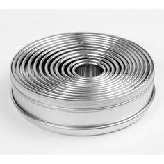 Ateco 5457 12-Piece Round Plain Cutter Set (August Thomsen)