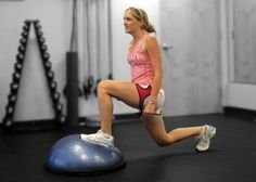 BOSU ball exercises...just to make things a wee bit more difficult.