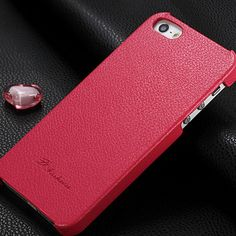 New Arrival Cowhide Genuine Leather Case for Apple iPhone 5S iphone5s 5 S Real Leather Back Case Cover