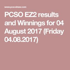 PCSO Swertres lottery game results - numbers and prizes - Sunday 30 July, 2017 for and draw. people won PHP Jackpot straight prize, and sum of winnings today is: PHP 30 July, June, Lotto Results, Lottery Drawing, Lotto Games, Tuesday, Friday