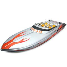 HUIQI - 2 40MHz Radio Control Boat 25KMh High Speed RC Yacht - GRAY in Toys…
