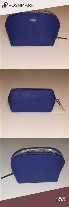 Blue Kate Spade Cameron Street Small Cosmetic Case Brand new cobalt blue Kate Spade cosmetics case. Never used. No tags. kate spade Bags Cosmetic Bags & Cases