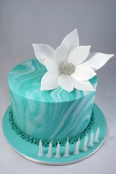 Most amazing turquoise cake from the fabulous Cakes of Wanaka www.cakesofwanaka.co.nz