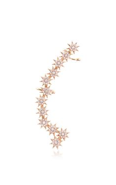 Venus Star White Diamond Ear Cuff by BEE GODDESS for Preorder on Moda Operandi