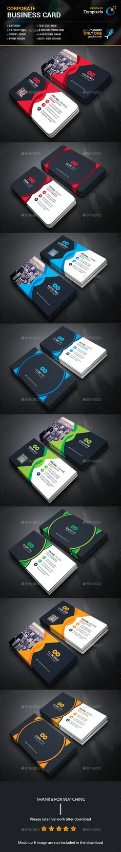 Buy Modern Business Card Bundle by zeropixels on GraphicRiver. FEATURES: Easy Customizable and Editable Business card in with bleed CMYK Color Design in 300 DPI Resolut. Buy Business Cards, Modern Business Cards, Business Card Design, Rollup Banner, Letterhead, Your Cards, Graphic Design, Card Designs, Card Templates