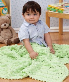 Free crochet pattern. Bobble Baby Blanket from Redheart