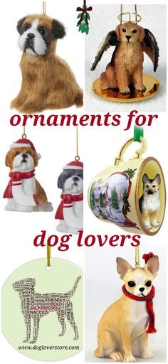 Ornaments for dog lovers Dog Lover Gifts, Dog Lovers, Dog Room Decor, Christmas Town, Dog Rooms, Dog Store, Dog Ornaments, Shih Tzu, Dog Breeds