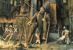 Pinocchio e Mangiafuoco, simbolo del potere ipnotico - illustrazione di Roberto Innocenti www.meditazionegnostica.it