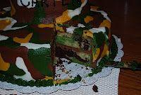camo cake inside