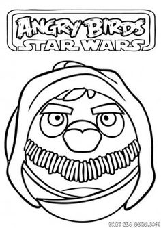 Free Printable #AngryBirds #StarWars #yado Coloring Pages for kids.free print out cartoon games  Angry Birds Star Wars yado worksheet for preschool.