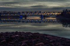 sunrise over the bridge by valdisveinberg - Photo 130483655 - 500px