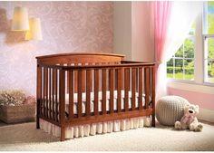Convertible Baby Crib 4 In 1 Mattress Nursery Toddler Bed Changer Side Daybed #DeltaChildren #baby #nursery #crib #convertible #cribs #toddler #daybed #babycrib