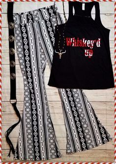 Cowgirl Gypsy AZTEC Bells Pants Yoga Festival BELL BOTTOMS 70s fashion MEDIUM #Unbranded #leggings