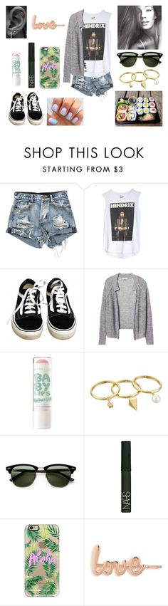 """21/08/16"" by milena-serranista ❤ liked on Polyvore featuring Vans, Rebecca Taylor, Rebecca Minkoff, Ray-Ban, NARS Cosmetics, Casetify and ban.do"