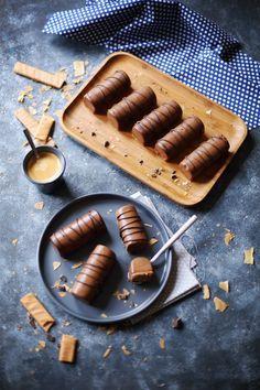 Mini bûches chocolat et pralinoise