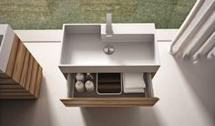 Meuble lavabo de salle de bains de design italien par Idea Group