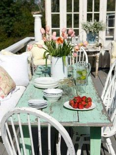 Outdoor dinner table