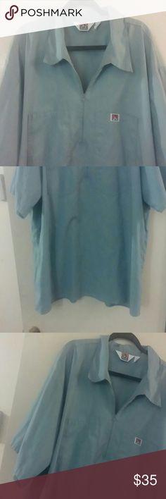 Ben Davis Half Zip Work Shirt Short Sleeve Ben Davis Half Zip Work Shirt Blue-ish gray color,Size 3XL. ben davis Shirts Casual Button Down Shirts