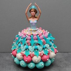 Discover recipes, home ideas, style inspiration and other ideas to try. Barbie Birthday, Barbie Party, Birthday Cake, Bolo Barbie, Lolly Cake, Candy Trees, Bar A Bonbon, Sweetarts, Islamic Gifts