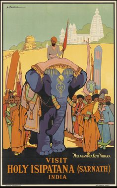 Visit India, a vintage Art Deco travel poster ~ and a note from Kim..sarnath