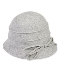 This Gray Bow Wool-Blend Cloche by ADORA is perfect! #zulilyfinds