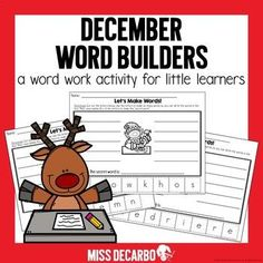 "This resource includes five word-work printables with a Christmas theme! Students cut out the letters to create words. They must also find the ""secret"" word which uses all of the letters provided. The adorable picture on each page gives students a hint about the ""secret"" word! Each secret word is a..."