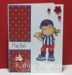Play Ball by Sparkling Stamper - Cards and Paper Crafts at Splitcoaststampers
