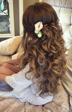 Super Wedding Hairstyles For Long Hair Volume Big Curls Ideas Long Hair Wedding Styles, Wedding Hairstyles For Long Hair, Wedding Hair And Makeup, Bride Hairstyles, Pretty Hairstyles, Easy Hairstyles, Hair Makeup, Bridesmaid Hairstyles, Hairstyle Ideas