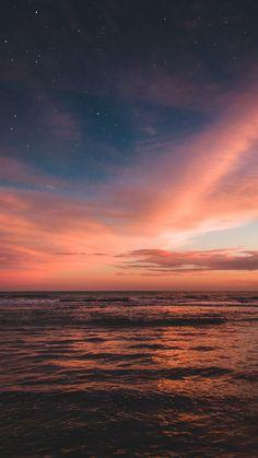 My Favorite Wallpaper: beach sunset wallpaper Pretty Sky, Beautiful Sky, Beautiful Landscapes, Beautiful Pictures, Sunset Sky, Sunset Beach, Sunset Tumblr, Sunset Gradient, Pink Sunset