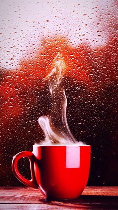 Rain And Coffee, Coffee Gif, Coffee Cup Art, I Love Coffee, Coffee Quotes, Coffee Break, Coffee Shop, Love Rose Flower, Good Morning Beautiful Images