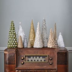 Use a cardboard cereal box (seriously) to create these fun trees.
