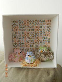 Enfeite porta maternidade família corujas R$70,00