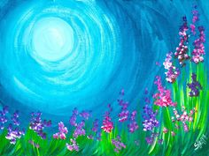 Q-tips Wild flowers painting EASY acrylic lesson The Art Sherpa Q Tip Painting, Canvas Painting Tutorials, Easy Canvas Painting, Simple Acrylic Paintings, Spring Painting, Acrylic Painting Canvas, Easy Paintings For Beginners, Acrylic Painting For Beginners, Beginner Painting