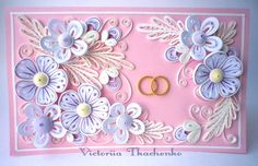 Quilling Paper Craft, Quilling Flowers, Paper Crafts, Quilling Patterns, Quilling Ideas, Wedding Cards, Gift Tags, Cardmaking, Paper Art