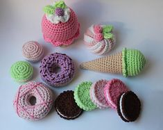 Check out our crochet food selection for the very best in unique or custom, handmade pieces from our shops. Crochet Food, Playroom Decor, Play Food, Crochet Earrings, Pretend Play, Handmade, Free Shipping, Hand Made, Craft