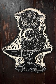 Tattoo inspired symbolic woodcuts by Bryn Perrott (deerjerk) - Bleaq Tampons, Gravure, Woodblock Print, Artist Art, Art Techniques, All Art, Art Sketches, Printmaking, Screen Printing