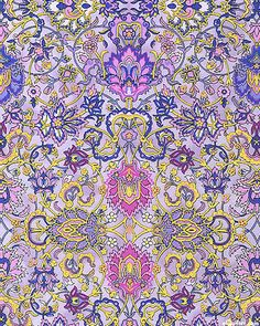 Blooming Hearts - Floral Filigrees - Heliotrope/Gold